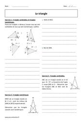 Triangles isométriques, semblables – 2nde – Exercices corrigés