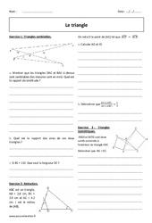Isométriques, semblables – 2nde – Exercices sur les triangles