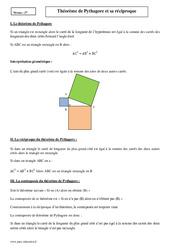 Théorème de Pythagore et sa réciproque – Seconde – Cours