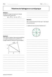 Théorème de Pythagore et sa réciproque – 2nde – Exercices corrigés