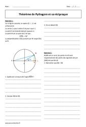 Pythagore et sa réciproque – 2de – Exercices sur le théorème