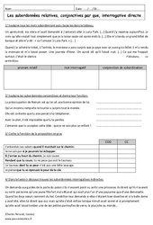 Relatives, conjonctives, interrogatives - 3ème - Exercices sur les propositions