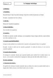 Langage statistique – Seconde – Cours
