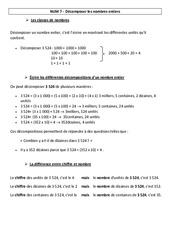 Décomposer les nombres entiers – Leçon – Cm1 – Cm2 – Numération – Mathématiques – Cycle 3