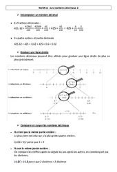 Nombres décimaux 2 – Leçon – Cm1 – Cm2 – Numération – Mathématiques – Cycle 3
