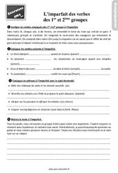Révisions, exercices à imprimer sur l'imparfait des verbes des 1er et 2ème groupes au Cm2