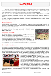 La corrida – Cm1 – Cm2 – Lecture compréhension