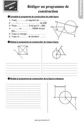 Exercices, révisions sur rédiger ou compléter un programme de construction au Cm1 avec les corrections
