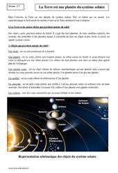 La Terre est une planète du système solaire – Seconde – Cours