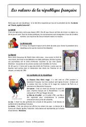 Les valeurs de la république - Cm1 - Cm2 - Lecture compréhension
