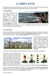 La Bretagne - Cm1 - Cm2 - Lecture documentaire