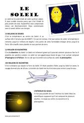 Le soleil – Ce2 – Lecture compréhension