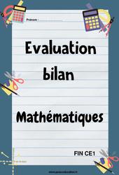 Mathématiques – Ce1 – Bilan fin d'année avec corrigés