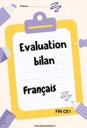 Français – Ce1 – Bilan fin d'année avec corrigés