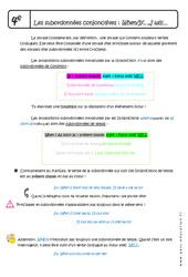 Subordonnées conjonctives : When- If – I will- 4ème – Cours