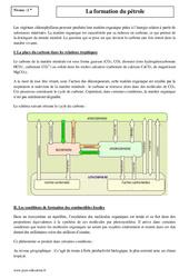 Formation du pétrole – Seconde – Cours – SVT