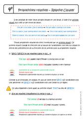 Propositions subordonnées relatives complexifiées - 4ème - Cours