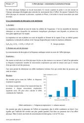 Effort physique - Consommation et production d'énergie - Seconde - Cours