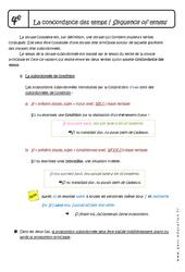 Concordance des temps – 4ème – Cours – Anglais