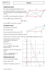 Vecteurs - Premières S - Cours