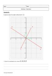 Vecteurs – Première – Exercices corrigés