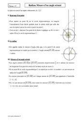 Radian, Mesure d'un angle orienté – Première – Cours