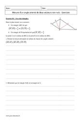 Angle orienté de deux vecteurs non nuls – Première – Exercices corrigés