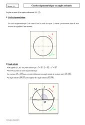 Cercle trigonométrique et angles orientés – Première – Cours
