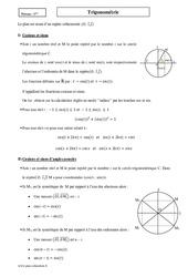 Trigonométrie – Première – Cours – Cosinus et sinus d'un réel