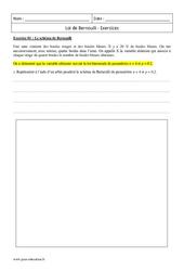 Loi de Bernoulli – Première – Exercices corrigés