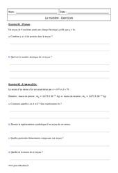 Matière - Première - Exercices corrigés à imprimer