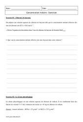 Concentration molaire - Première - Exercices corrigés