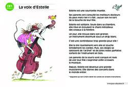 La voix d'Estelle – CE1 – Lecture compréhension – Histoire illustrée – Niveau 2