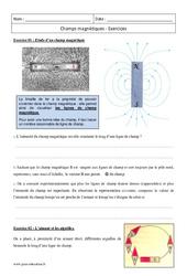Champs magnétiques - Première - Exercices corrigés