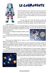 Le cosmonaute – Cm1 – Cm2 – Récit – Lecture