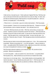 Petit coq - Ce1 - Récit - Lecture compréhension