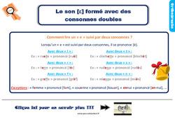 Leçon, trace écrite sur le son [è] avec des consonnes doubles au Ce2