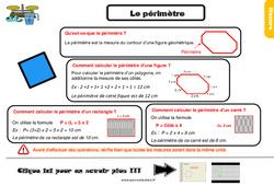 Leçon, trace écrite sur mesurer le périmètre au Cm1