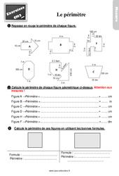 Exercices, révisions sur mesurer le périmètre au Cm2 avec les corrections