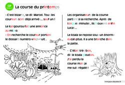 La course du printemps – CP – Lecture compréhension – Histoire illustrée – Niveau 2