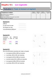 Tracer et mesurer un segment- 6ème – Evaluation avec la correction