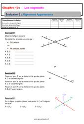Alignement Appartenance sur les segments – 6ème – Evaluation avec la correction