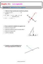 Médiatrice d'un segment - 6ème - Révisions - Exercices avec correction