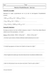 Réaction d'oxydoréduction – Première – Exercices à imprimer