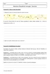 Réactions d'oxydation ménagée – Première – Exercices corrigés