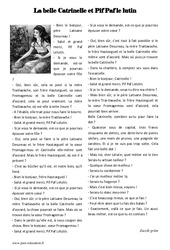 La belle Catrinelle et Pif Paf le lutin - Cm1 - Cm2 - Conte - Lecture