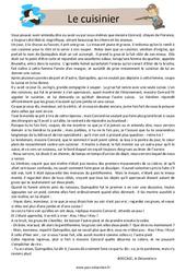Le cuisinier – Cm1 – Cm2 – Récit – Lecture