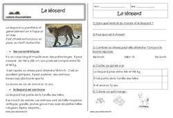 Le léopard – Cp – Lecture documentaire