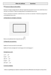 Aires et surfaces – Cm1 – Exercices – Mesures – Cycle 3