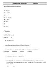 Mesures de contenance – Cm1 – Exercices – Mesures – Cycle 3